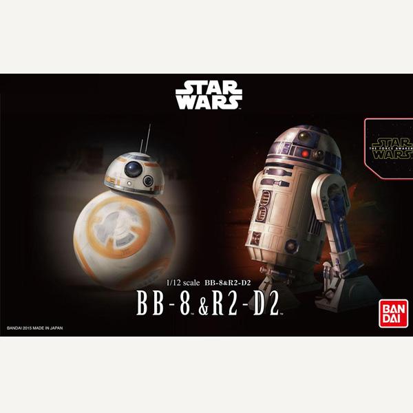 [박스손상] 반다이 스타워즈 프라모델 1/12 BB-8&R2-D2 [2월입고완료] [4549660032205]