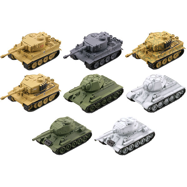 미니Q 월드 탱크 디포르메7 격투 동부 전선 편(티거 VS T-34/1박스8개입) [5월입고완료] [4537807082596]