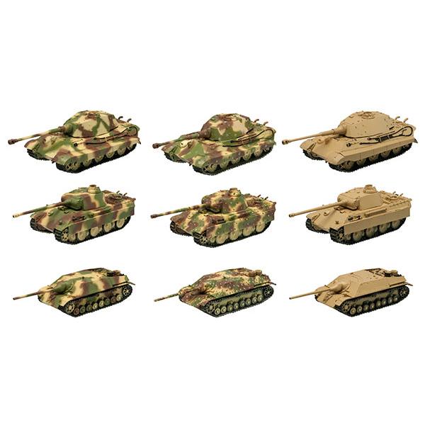 1/144 월드 탱크 뮤지엄 킷 Vol.4 독일 기갑사단 아르덴  1944(1박스10개입) [8월입고완료] [4582138603125]