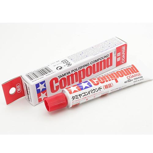 [타미야] COMPOUND COARSE 콤파운드 22ml [4950344870684]