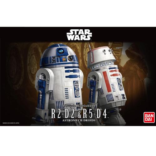 반다이프라모델 1/12 스타워즈 R2-D2 & R5-D4 [3월입고완료] [4543112959638]